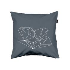 Via Held&Lykke | Geometric Cushion | Grey and White