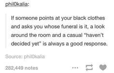 Way to sound morbid