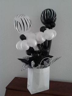 Zebra in a bag bouquet