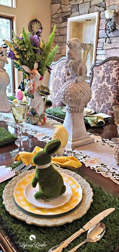Bunny Kisses and Easter Wishes Easter Party, Easter Table, Asparagus Fern, Seasonal Celebration, Easter Wishes, Easter 2020, Spring Bouquet, Happy Easter, Kisses