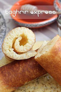 Recette de baghrir, communément appelées crêpes mille trous et express au blender, un baghrir très facile et inratable. 10 minutes chrono, une crêpe épaisse