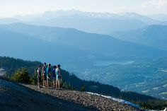 Taking in the awesome views from the Roundhouse Lodge  on Whistler Mountain by GoWhistler, via Flickr