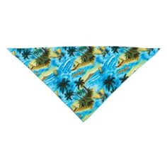 Amazon.com: Aria Polyester/Cotton Blend Aloha Dog Bandana, 22-Inch, Blue: Pet Supplies