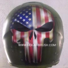 Rekairbrush Custom Airbrushed Motorcycle Helmet 161