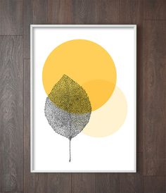 Botanical Leaf Art Print | Affiche Scandinave | Botanical Wall Print ______________________________________________________ Welcome to Little Ink Empire. Here youll find a range of unique art prints inspired by the latest interior design trends, perfect for adding that little
