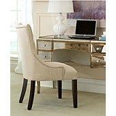 Monique Home Office Desk, Cabriole Mirrored Writing Desk