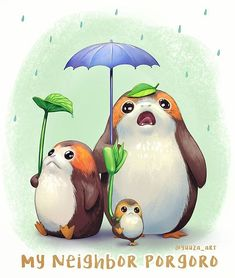 posted by yuuza_art via instagram : I couldn't help but make the connection :))) 'My neighbor Totoro' with Porgs . #ghibli #studioghibli #myneighbortotoro #totoro #starwars #porg #porgs #myart #thelastjedi totoro,ghibli,studioghibli,porg,thelastjedi,myneighbortotoro,myart,starwars,porgs