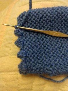 Just an idea crochet on baby s garter stitch jersey db674211c5d