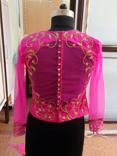 Net blouse with hand work