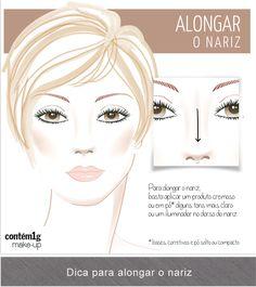 Truques de maquiagem para corrigir o formato do nariz | Moda Para Usar