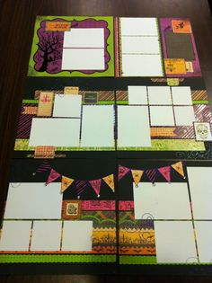 Halloween Scrapbook Page Layouts