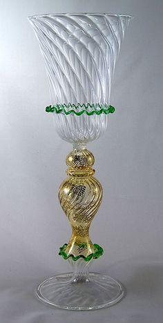 Venetian Style Goblet by Yurana Design  www.yurana.com
