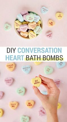 Learn how to add letters to these DIY conversation heart Valentine's Day bath bombs for the perfect Valentine's Day party favor or kids' gift! Diy Gifts Valentine's Day, Diy Gifts For Kids, Valentine's Day Diy, Diy For Kids, Kinder Valentines, Valentines Day Party, Valentine Day Crafts, Walmart Valentines, Valentine's Day Quotes