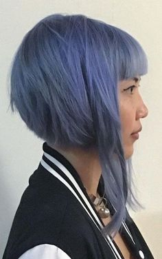 Asymmetrical Bob Hairstyles - Bob With Bangs And An Extended Front