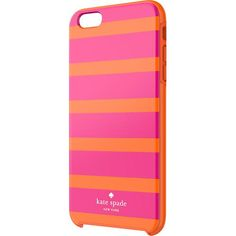 kate spade new york - Kinetic Stripe Hybrid Hard Shell Case for Apple® iPhone® 6 Plus - Pink/Orange - Larger Front