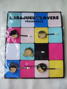 HARAJUKU LOVERS BARRETTES HAIRPINS AUTHENTIC LIMITED EDITION