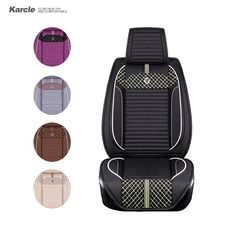 Karcle 1PCS Universal Car Seat Covers Healthy Cloth Linen Seat Cushion Car-styling Retractable Rear Seat Automobiles Accessories