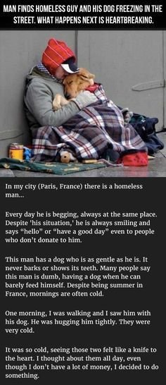 Take a moment to read this. It's inspirational and a tear jerker. It may ren… Take a moment to read this. It's inspirational and a tear jerker. It may renew your Faith in human kindness. Sweet Stories, Cute Stories, Beautiful Stories, Sad Dog Stories, Happy Stories, Beautiful Wolves, Beautiful People, Beautiful Beautiful, Animals Beautiful