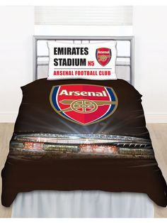 Arsenal FC Emirates Stadium Single Duvet Cover - Bedding Set - Available now - Play-rooms - Free Delivery - More matching items available