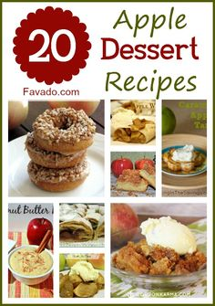 20 delicious dessert recipes! Can't wait to try some of them.