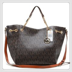 Michael Kors Chain Large Coffee Totes Check out the website for more.