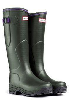 0cf265fbf88 Hunter Balmoral Lady Neoprene Wellington Boots - Aubergine The Lady  Balmoral Neoprene boasts all the benefits of the Balmoral Neoprene in terms  of lining