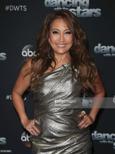 Dancer and actress Carrie Ann Inaba (Dancing with the Stars and Austin Powers in Goldmember) wore Heiress by Belle Étoile as she arrives to Dancing With The Stars at CBS Television City on November 13, 2017.
