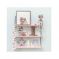 Une étagère décorative couleurs pastel Pot A Crayon, Pots, Floating Shelves, Crayons, Magazine, Home Decor, Pastel Colors, Child Room, Decoration Home
