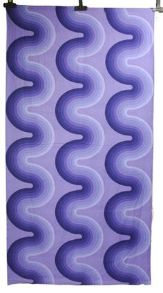 Vintage Verner Panton for Mira-X Wave Pattern Fabric, C1970