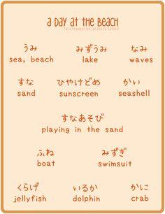 beach vocab 海へ行こう!