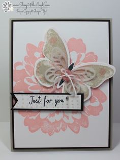 I used the Watercolor Wings and Definitely Dahlia stamp sets from Stampin' Up! to create my card to share today. I love these two new stamp sets!! Okay, I love all of the new stamp sets, but thes...