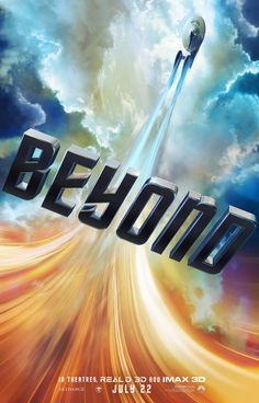 """The new Star Trek Poster for their latest franchise installment 'Beyond"""" features a trailing swoosh upwards with the enterprise arching through the clouds and a futuristic font. Who say…"""