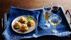 BBC - Food - Recipes : Potato wafers with smoked salmon, watercress and horseradish cream
