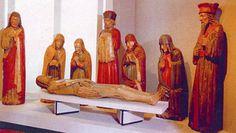 Ignoto scultore di area piemontese, Compianto sul Cristo morto, XV secolo ca., legno intagliato e dipinto. Roma, Castel Sant'Angelo