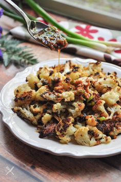 Roasted Cauliflower with Soy-Ginger Sauce-4