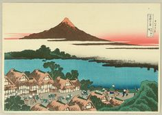 Dawn at Isawa in Kai Province - by Katsushika Hokusai (Japan)