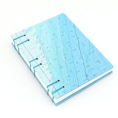 Bathymetric Nautical Chart Handmade Journal by Ruth Bleakley