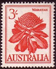 Australia 1959 SG 326 Flowers Waratah Fine Mint SG 326 Scott 330 Condition Fine LMM Only one post charge applied on multipule purchases Details N B