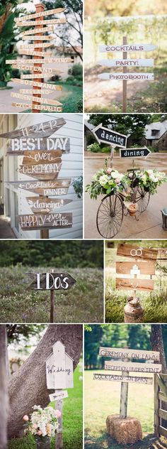 Show-Me-The-Way Wedding Signage Inspiration Rustic