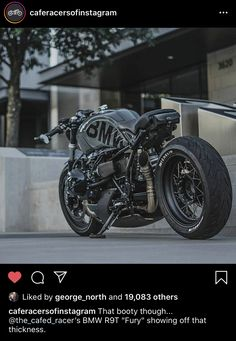 Cafe Racer Honda, Cafe Racer Bikes, Cafe Racer Motorcycle, Motorcycle Art, Bmw Motorcycles, Custom Motorcycles, Custom Bikes, Custom Cars, Bmw Motors