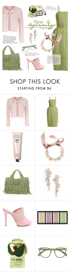 """Spring/Summer Green Celebration"" by xiandrina ❤ liked on Polyvore featuring Maje, Rosie Assoulin, Bobbi Brown Cosmetics, INC International Concepts, Nadri, Clé de Peau Beauté and Charlotte Russe"