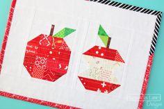 Free Patchwork Apple Mini Quilt