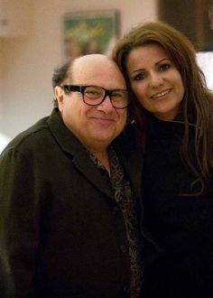 Chef LaLa and Danny DeVito. LaLa catering at his home to raise funds for Childrens Hospital Los Angeles.