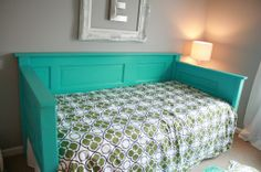 porch beds Diy wood headboard queen old doors 41 Ideas The Tempur Pillow Is Always With Me I got to Girl Room, Girls Bedroom, Bedrooms, Bedroom Ideas, Furniture Makeover, Diy Furniture, Painted Furniture, Cabana, Queen Daybed