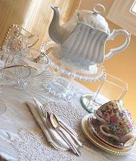 Lovely Tea Time Table Setting