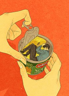 "My tribute to Chungking Express.  ""I'm no different from a can of pineapple."""