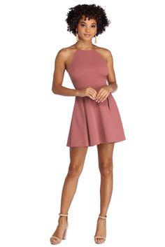 37b7f45f9f Rose Don t You Wish Skater Dress Flowy Skirt