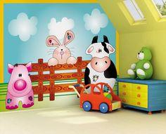 Little Ones Fotobehang Farm Animals 418041
