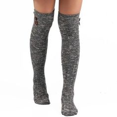 Winter Buttons Snowflake Point Knit Stockings  $19.99    Type: Stockings  Group: Adult  Gender: For Women  Style: Fashion  Pattern Type: Striped  Material: Spandex  Length(CM): Heel to edge length:50CM;Foot length:20CM  Width(CM): 9.5CM  Weight: 0.110kg  Package Contents: 1 x Stockings(Pair)