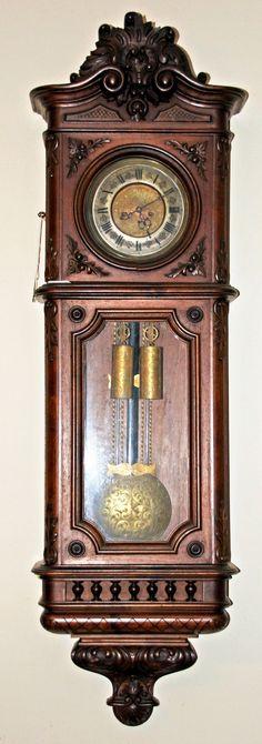 1-Weight Vienna Regulator with Grand Sonnerie Strike at antique-clock.com